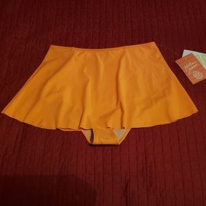 Kortni jeane short swim skirt orange S Small NWT